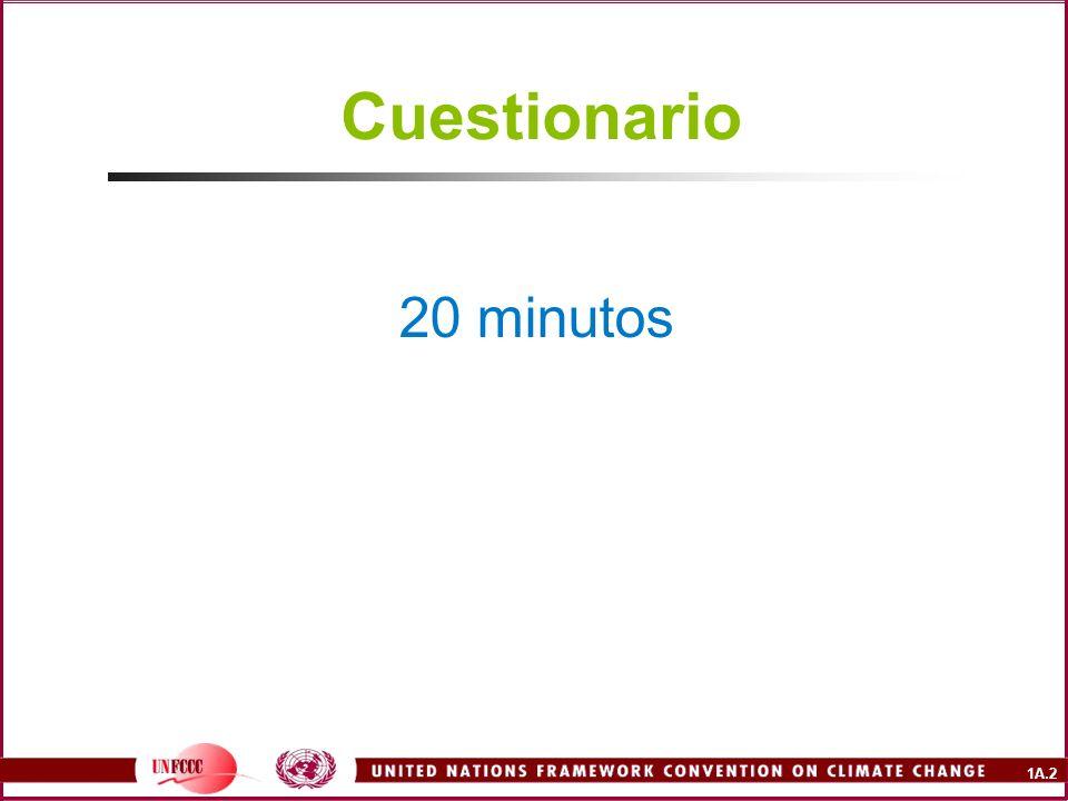 Cuestionario 20 minutos.