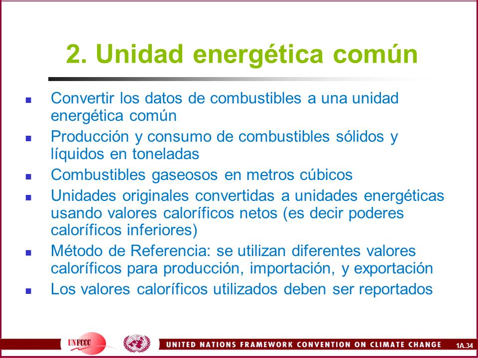 2. Unidad energética común