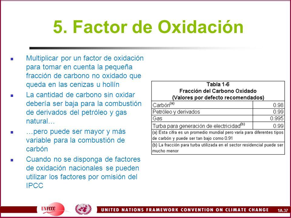 5. Factor de Oxidación