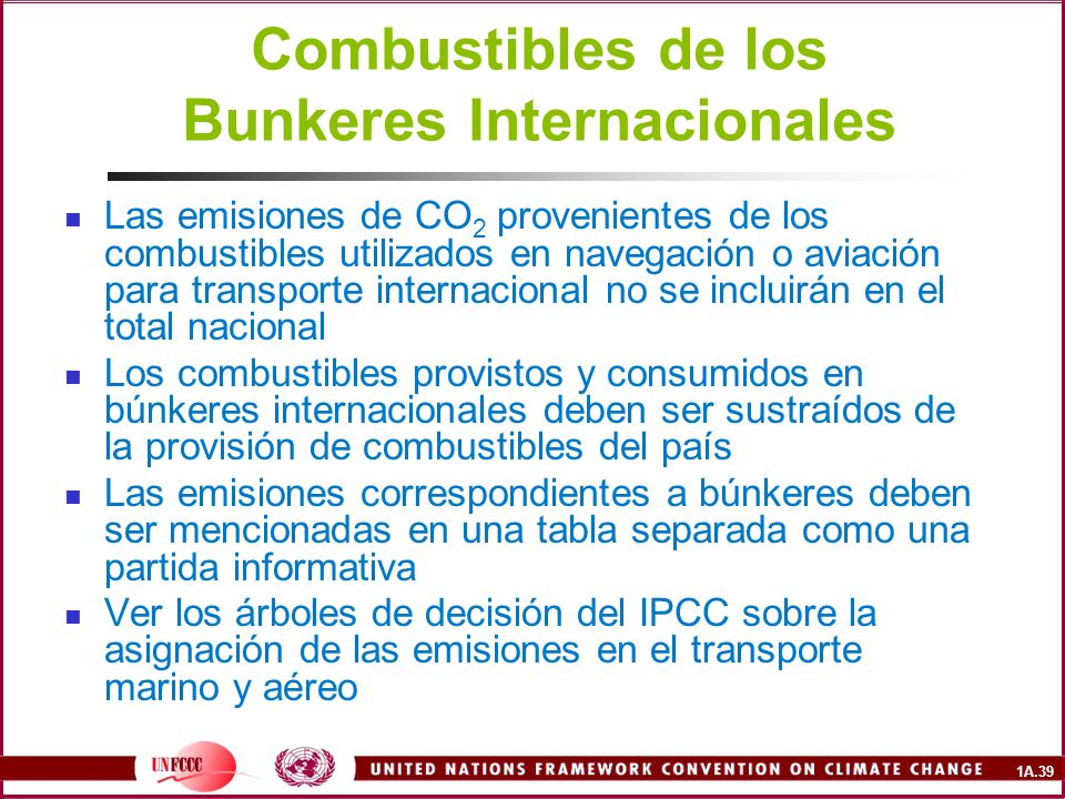 Combustibles de los Bunkeres Internacionales