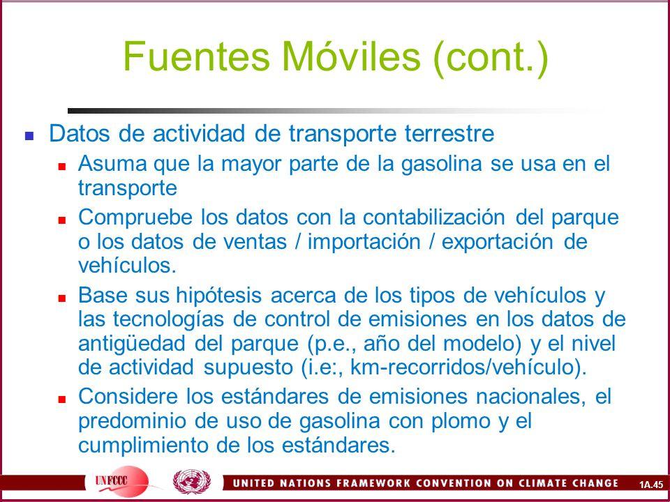 Fuentes Móviles (cont.)