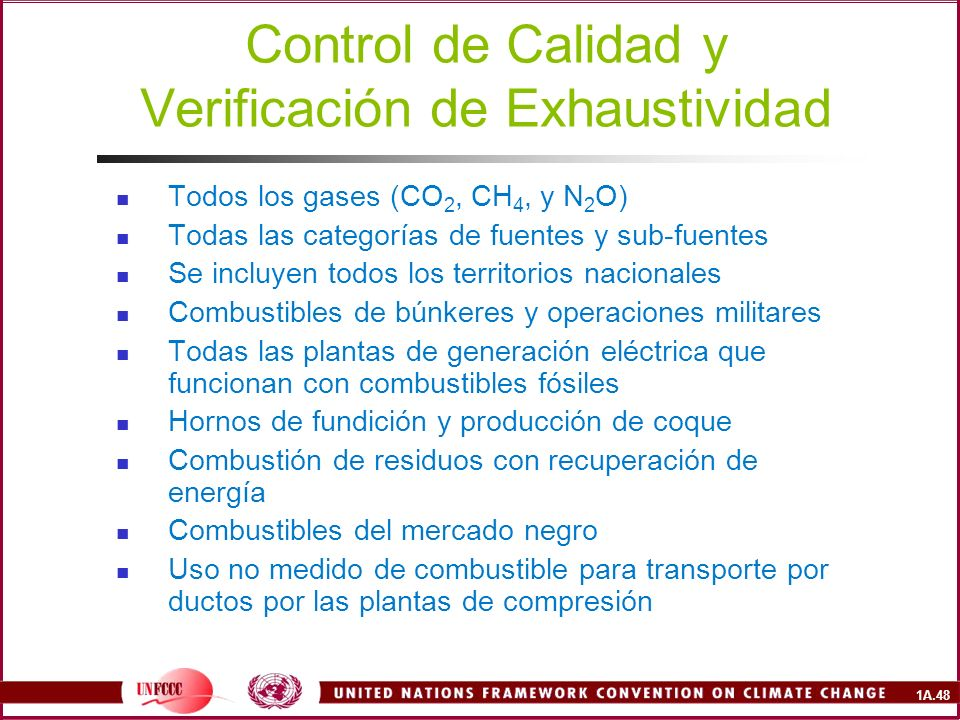 Control de Calidad y Verificación de Exhaustividad