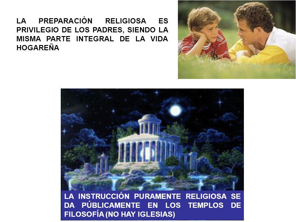 LA PREPARACIÓN RELIGIOSA ES PRIVILEGIO DE LOS PADRES, SIENDO LA MISMA PARTE INTEGRAL DE LA VIDA HOGAREÑA