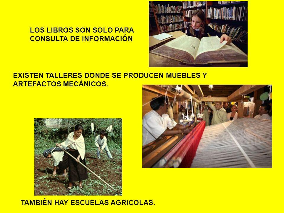 LOS LIBROS SON SOLO PARA CONSULTA DE INFORMACIÓN