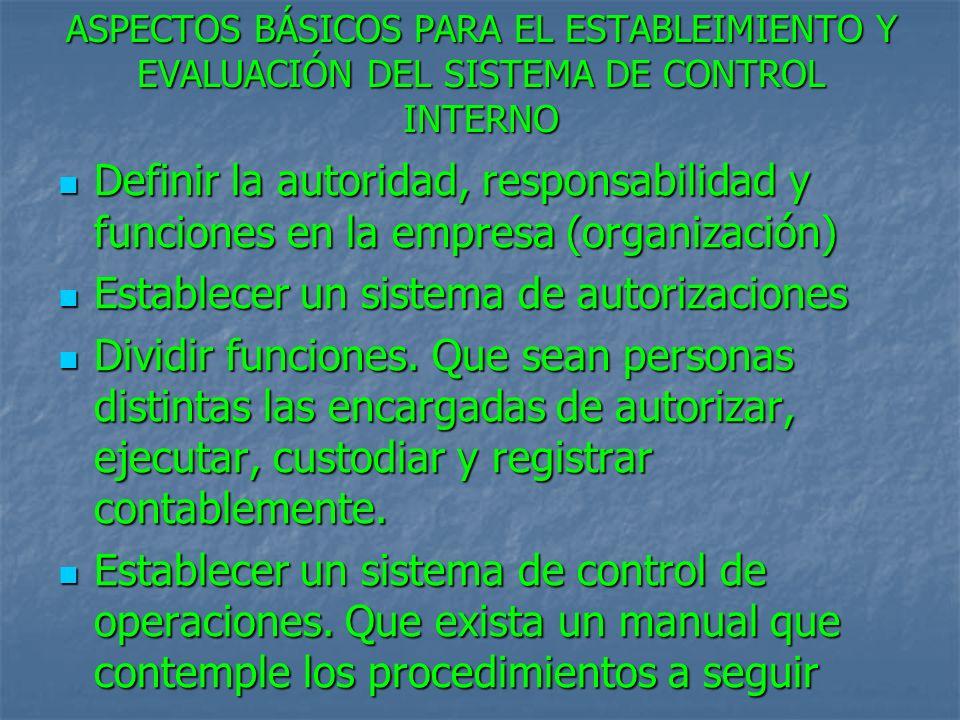Establecer un sistema de autorizaciones