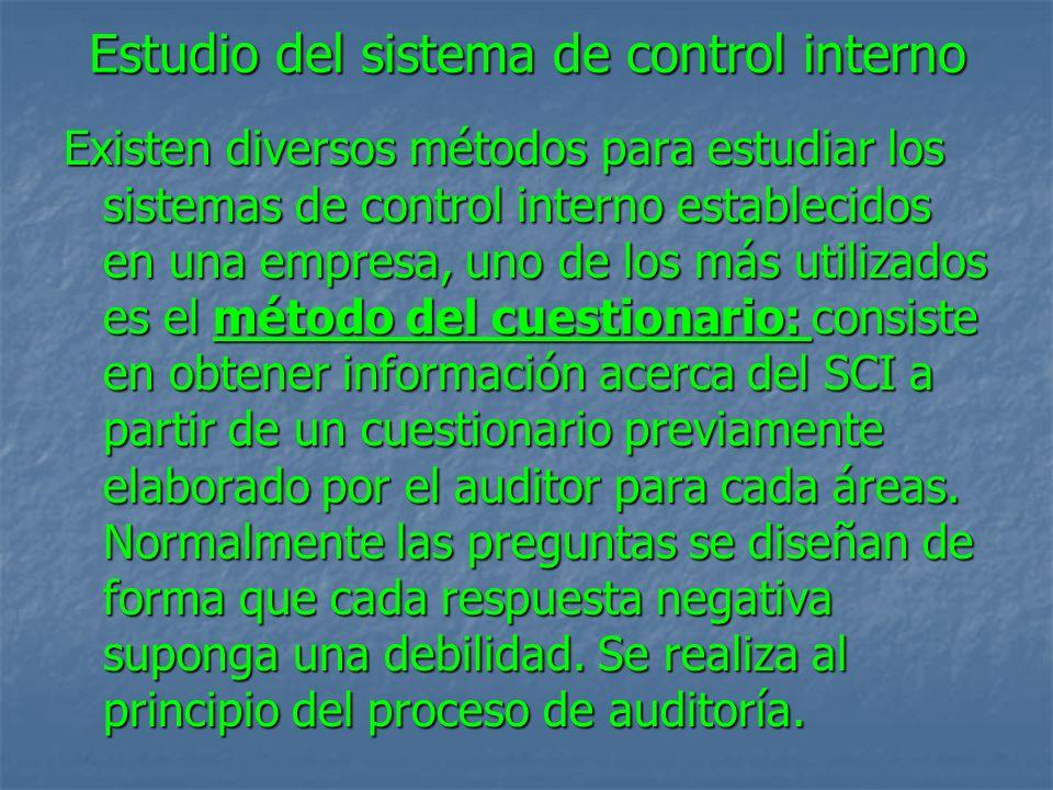 Estudio del sistema de control interno