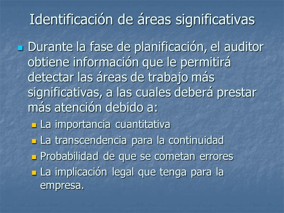 Identificación de áreas significativas