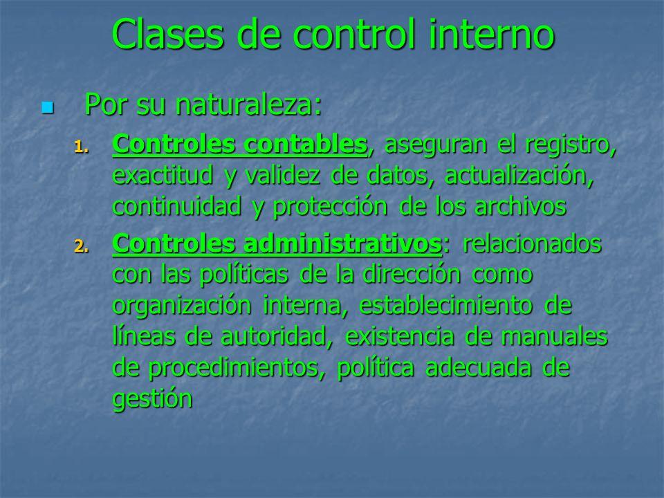 Clases de control interno
