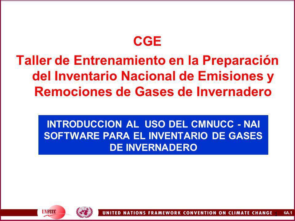 CGE Taller de Entrenamiento en la Preparación del Inventario Nacional de Emisiones y Remociones de Gases de Invernadero