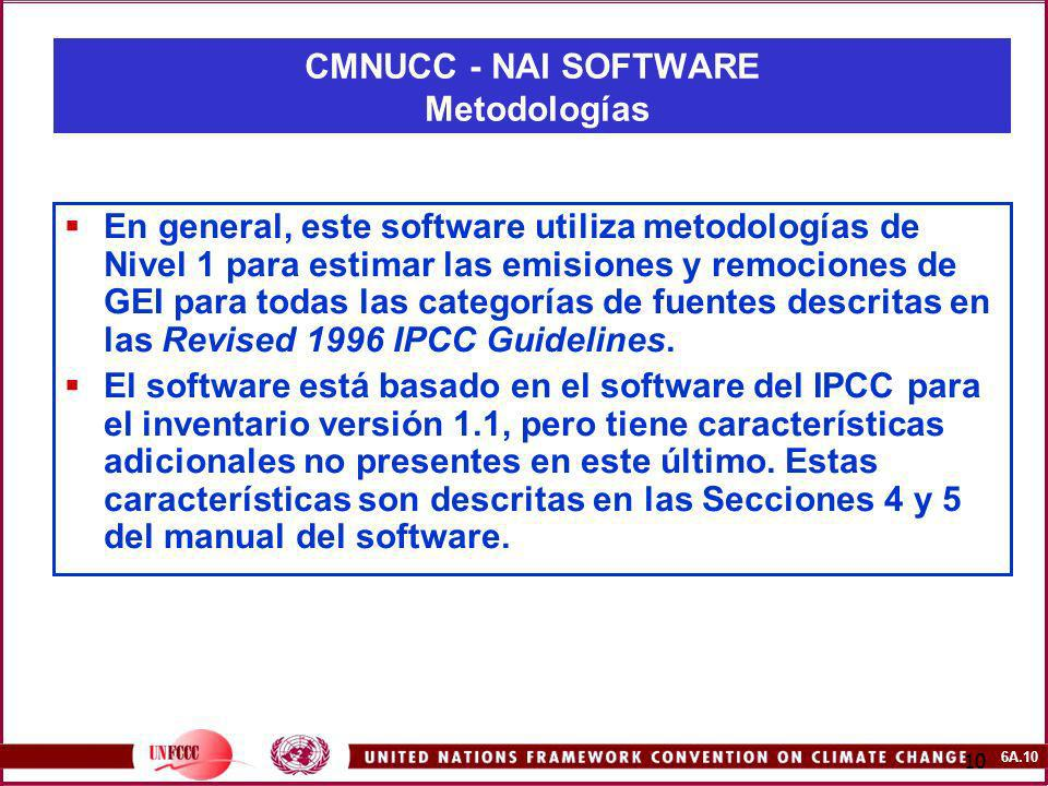 CMNUCC - NAI SOFTWARE Metodologías