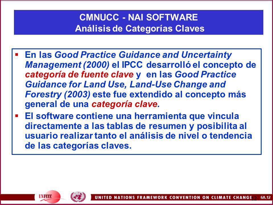 CMNUCC - NAI SOFTWARE Análisis de Categorías Claves