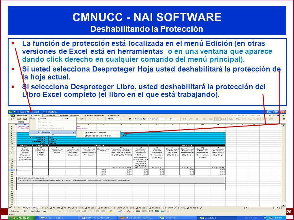 CMNUCC - NAI SOFTWARE Deshabilitando la Protección