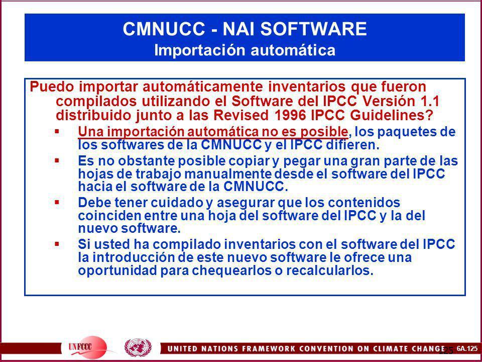 CMNUCC - NAI SOFTWARE Importación automática