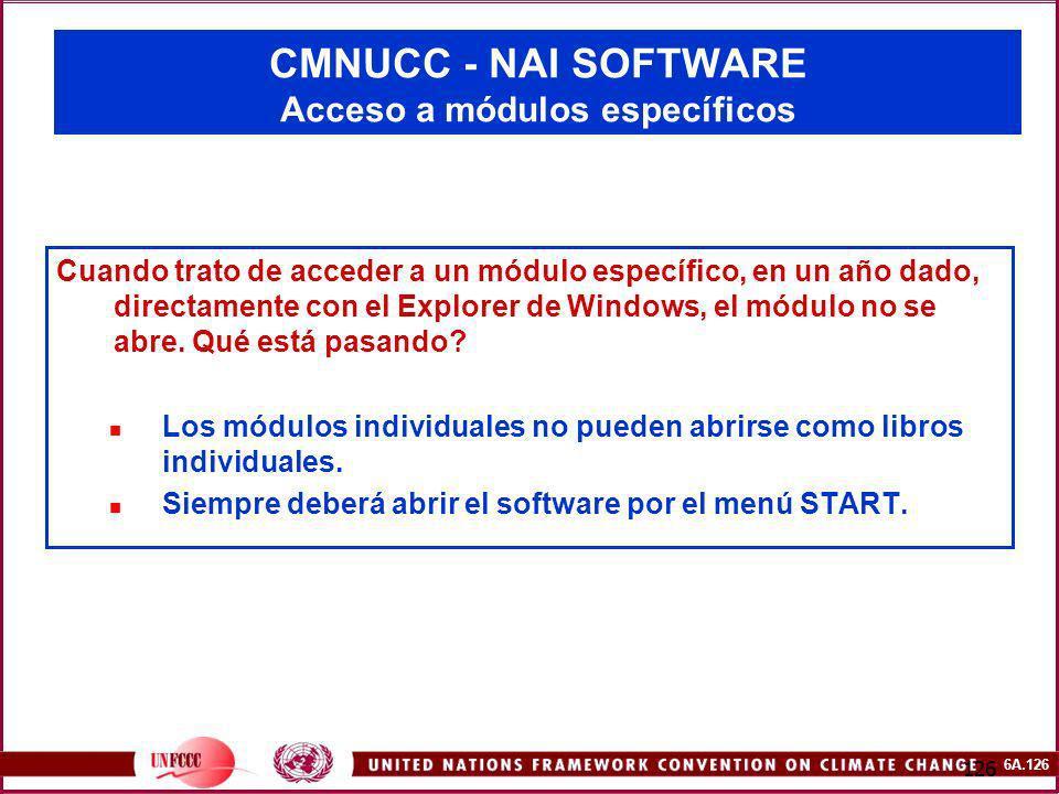 CMNUCC - NAI SOFTWARE Acceso a módulos específicos