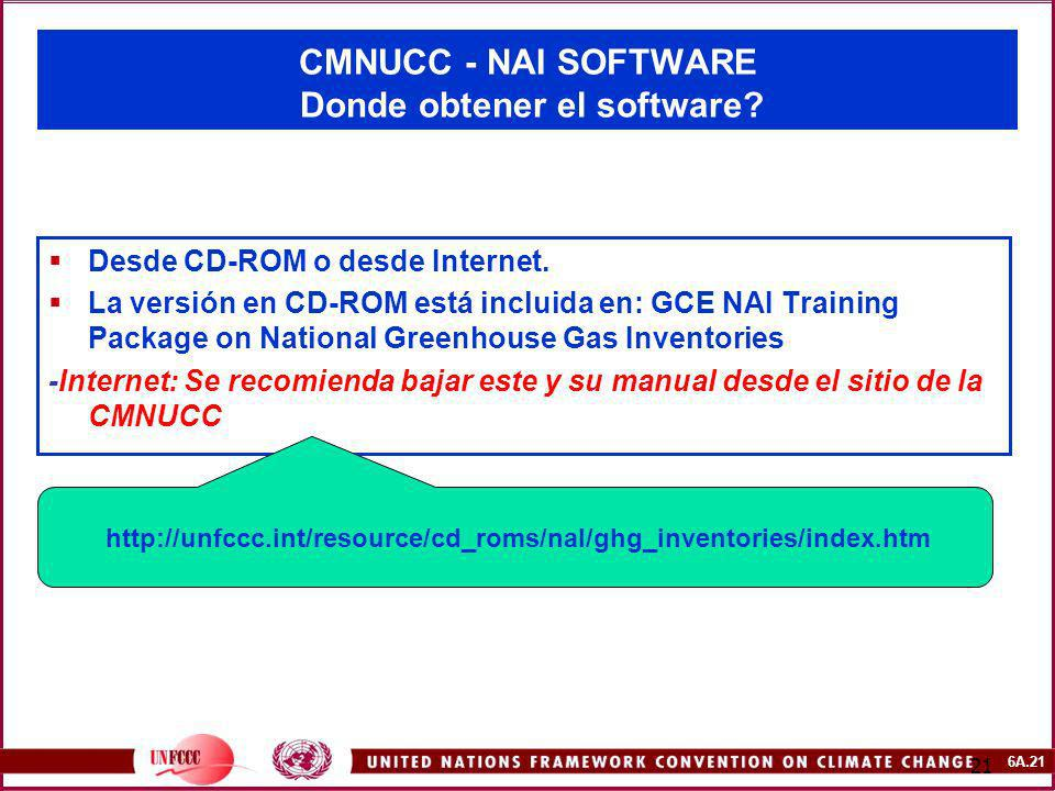 CMNUCC - NAI SOFTWARE Donde obtener el software