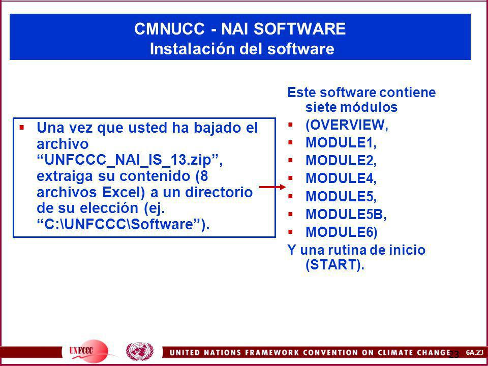 CMNUCC - NAI SOFTWARE Instalación del software