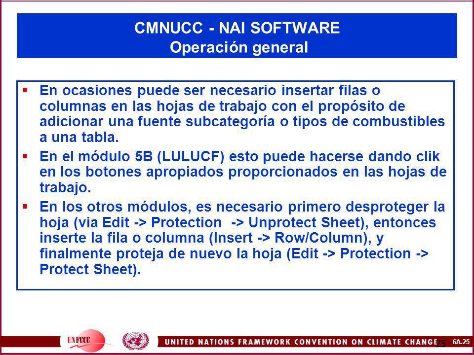 CMNUCC - NAI SOFTWARE Operación general