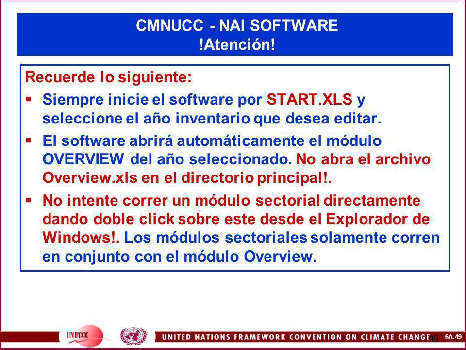 CMNUCC - NAI SOFTWARE !Atención!