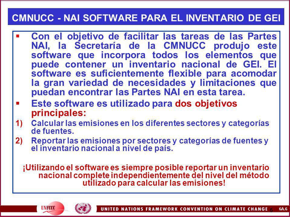 CMNUCC - NAI SOFTWARE PARA EL INVENTARIO DE GEI