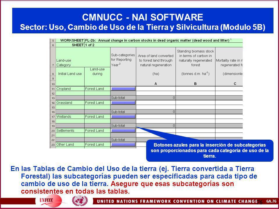 CMNUCC - NAI SOFTWARE Sector: Uso, Cambio de Uso de la Tierra y Silvicultura (Modulo 5B)