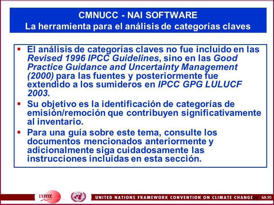 CMNUCC - NAI SOFTWARE La herramienta para el análisis de categorías claves