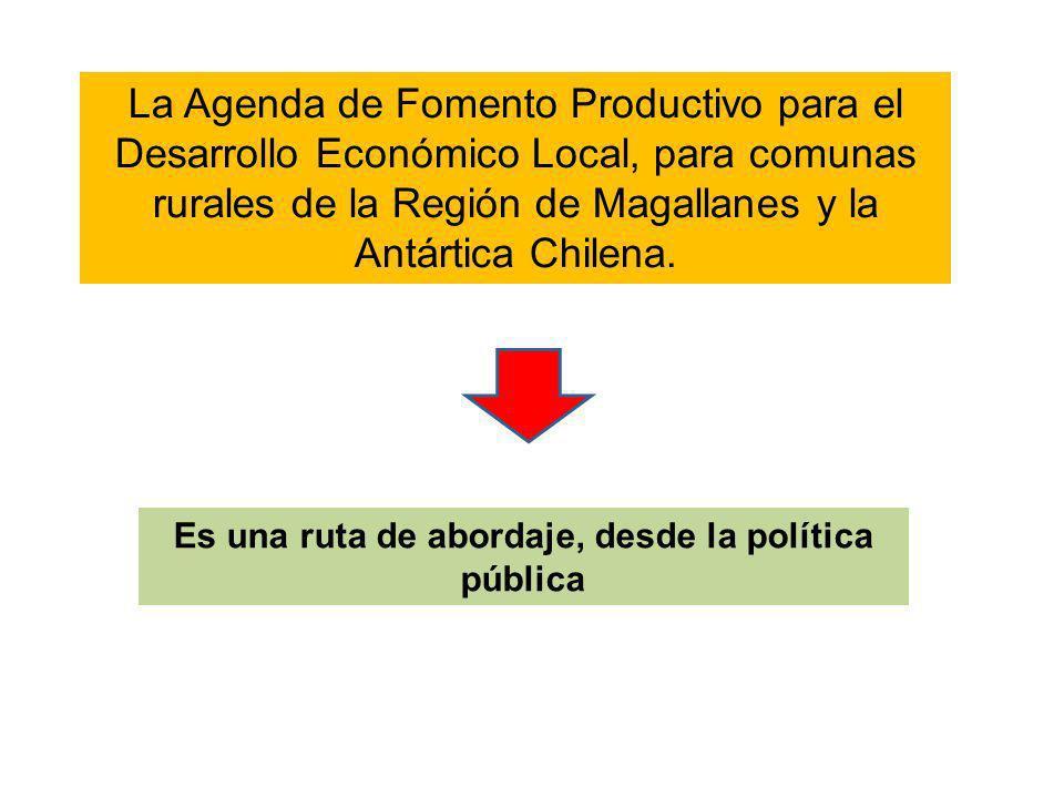 Es una ruta de abordaje, desde la política pública