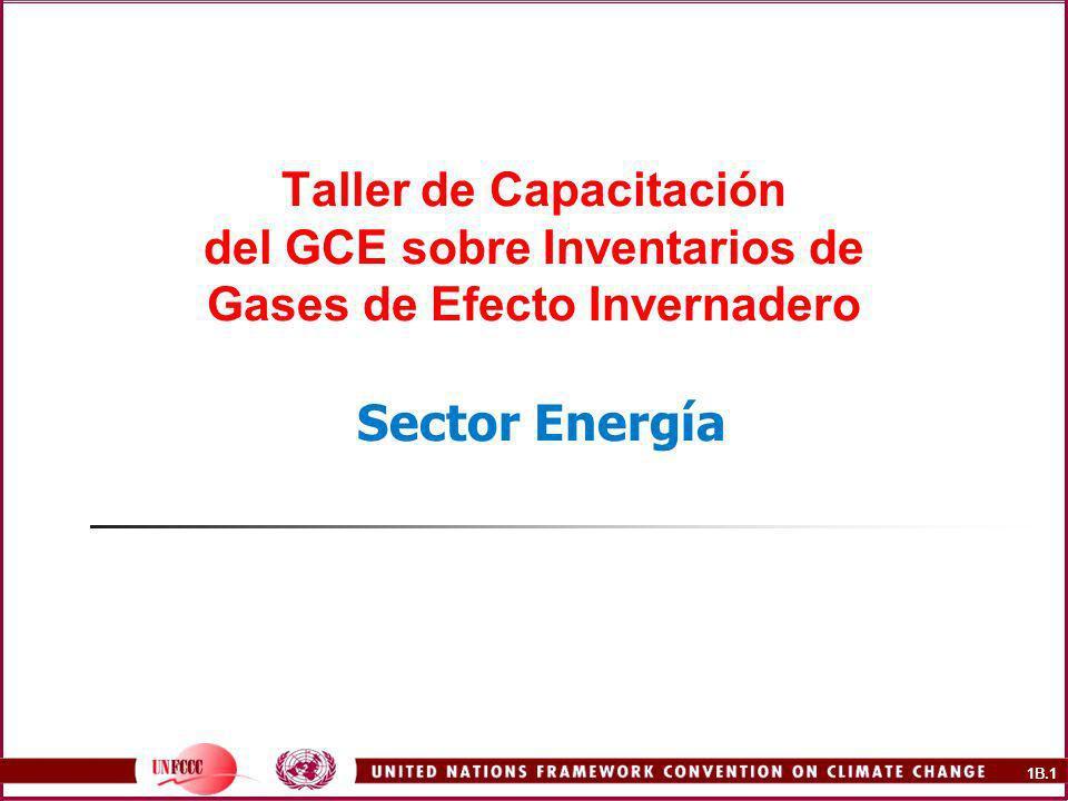 Taller de Capacitación del GCE sobre Inventarios de Gases de Efecto Invernadero Sector Energía