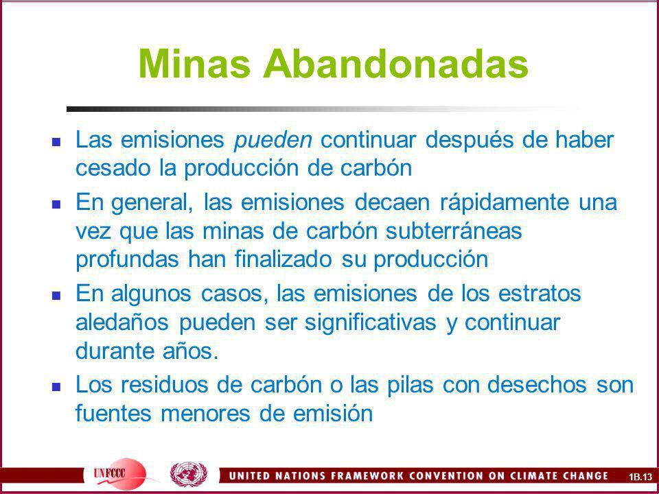 Minas Abandonadas Las emisiones pueden continuar después de haber cesado la producción de carbón.