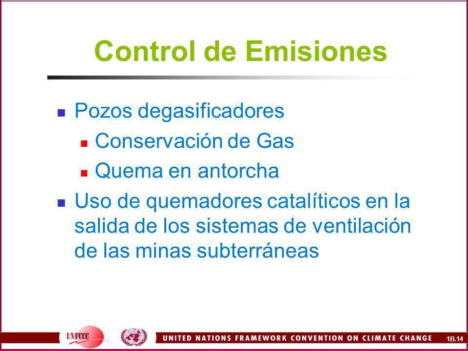 Control de Emisiones Pozos degasificadores Conservación de Gas