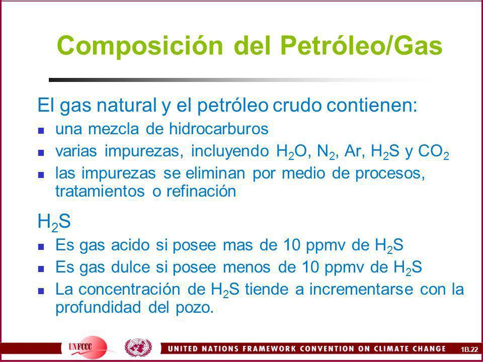 Composición del Petróleo/Gas