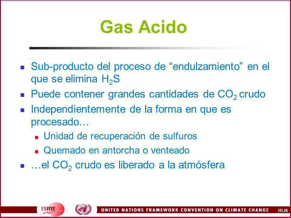 Gas Acido Sub-producto del proceso de endulzamiento en el que se elimina H2S. Puede contener grandes cantidades de CO2 crudo.