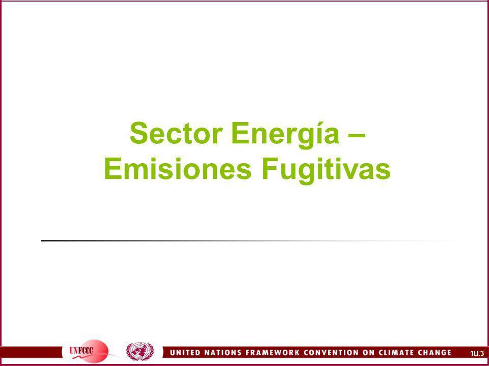 Sector Energía – Emisiones Fugitivas