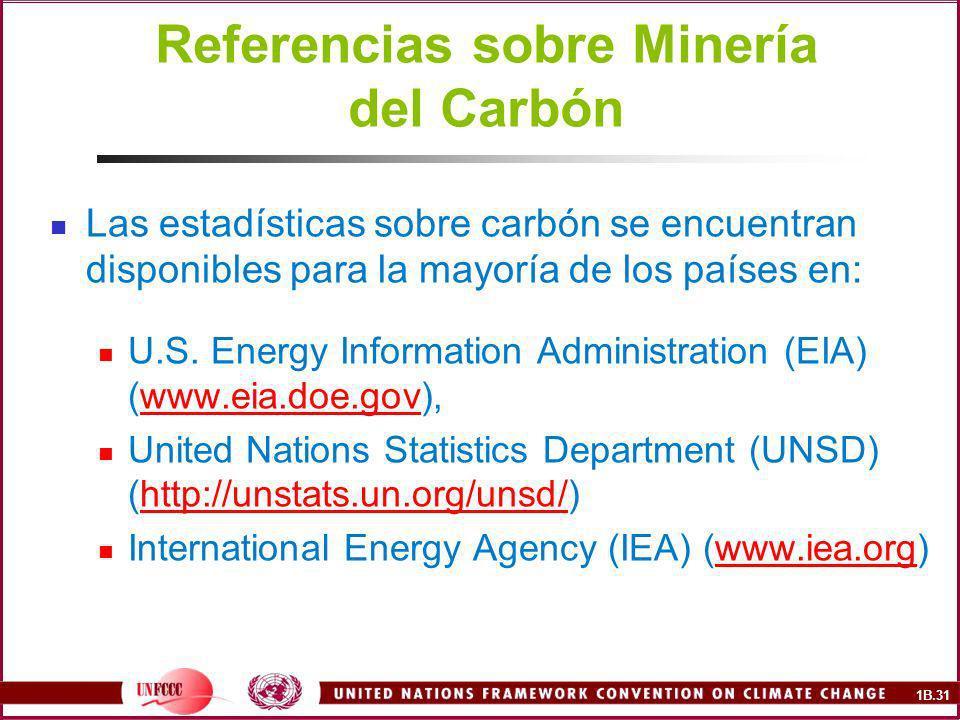 Referencias sobre Minería del Carbón