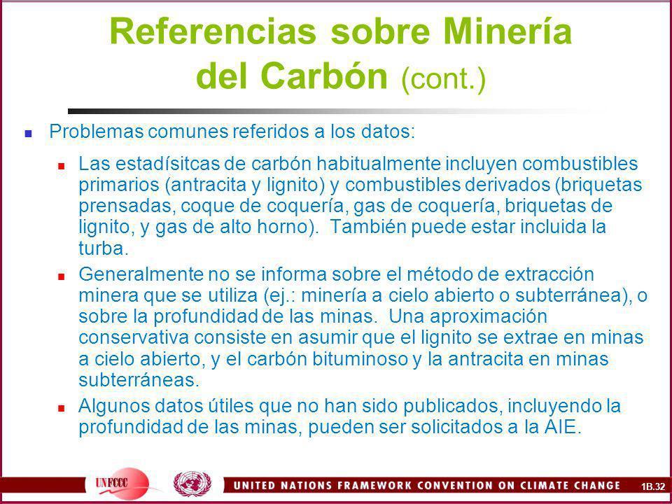 Referencias sobre Minería del Carbón (cont.)