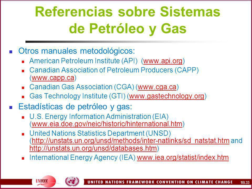 Referencias sobre Sistemas de Petróleo y Gas