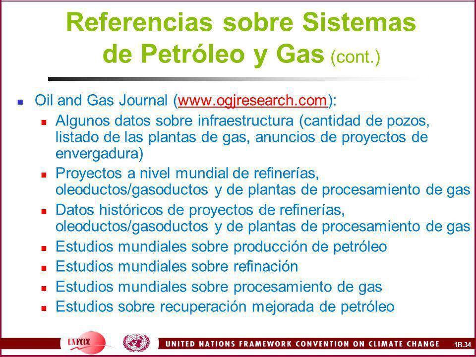Referencias sobre Sistemas de Petróleo y Gas (cont.)