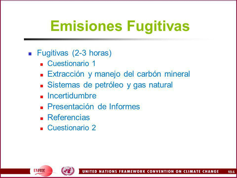Emisiones Fugitivas Fugitivas (2-3 horas)