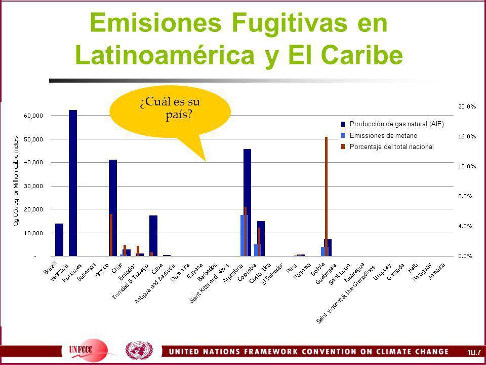 Emisiones Fugitivas en Latinoamérica y El Caribe