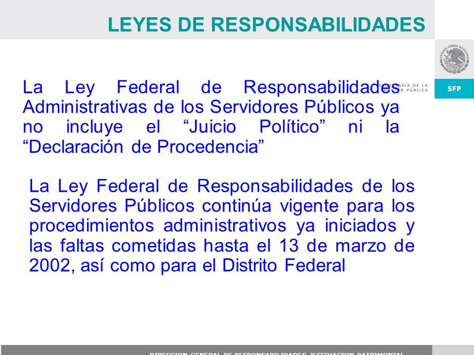 LEYES DE RESPONSABILIDADES