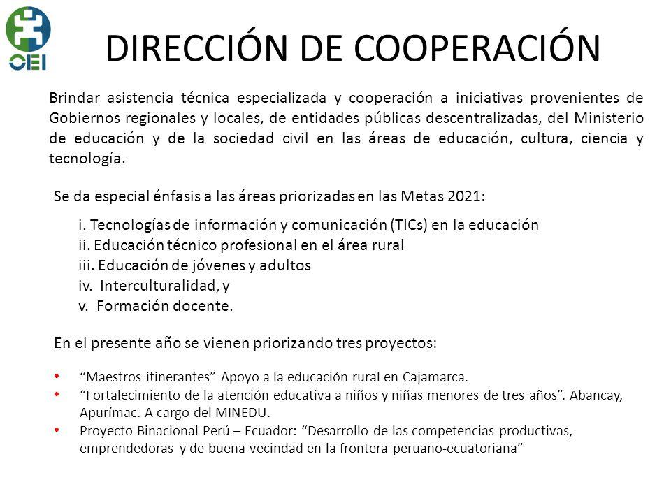 DIRECCIÓN DE COOPERACIÓN