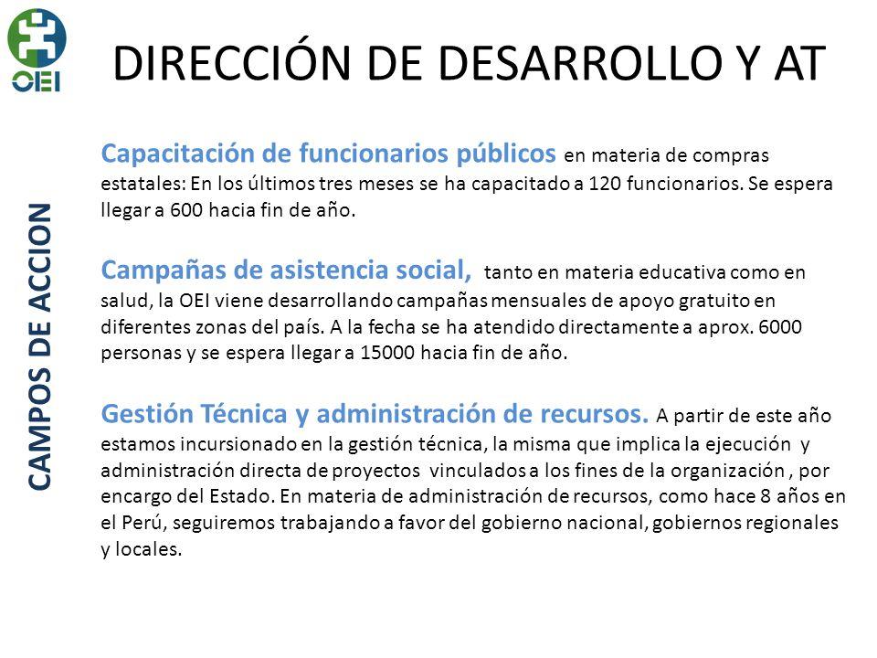 DIRECCIÓN DE DESARROLLO Y AT