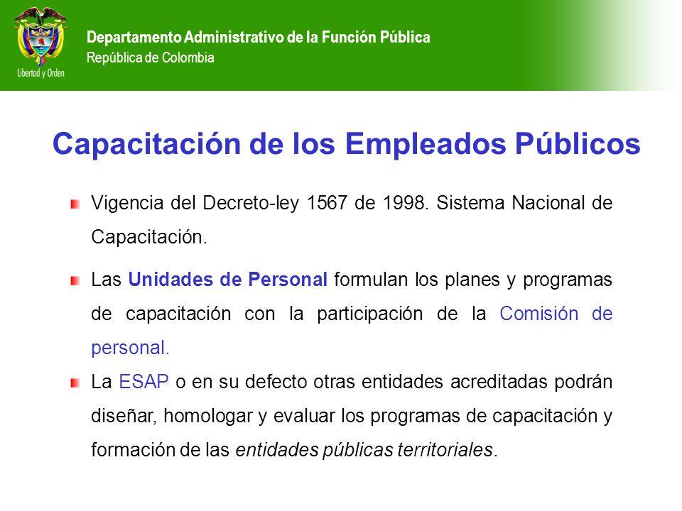 Capacitación de los Empleados Públicos
