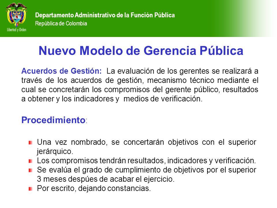 Nuevo Modelo de Gerencia Pública