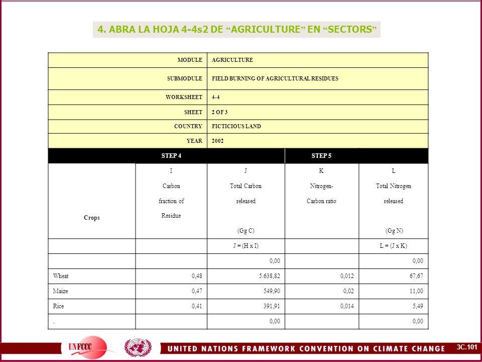 4. ABRA LA HOJA 4-4s2 DE AGRICULTURE EN SECTORS