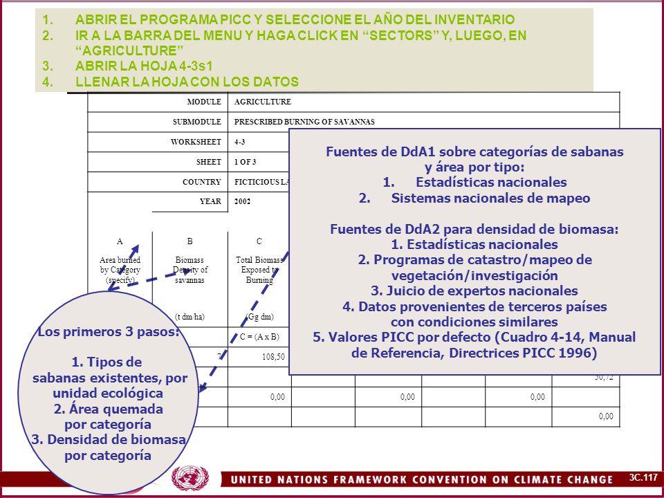 ABRIR EL PROGRAMA PICC Y SELECCIONE EL AÑO DEL INVENTARIO