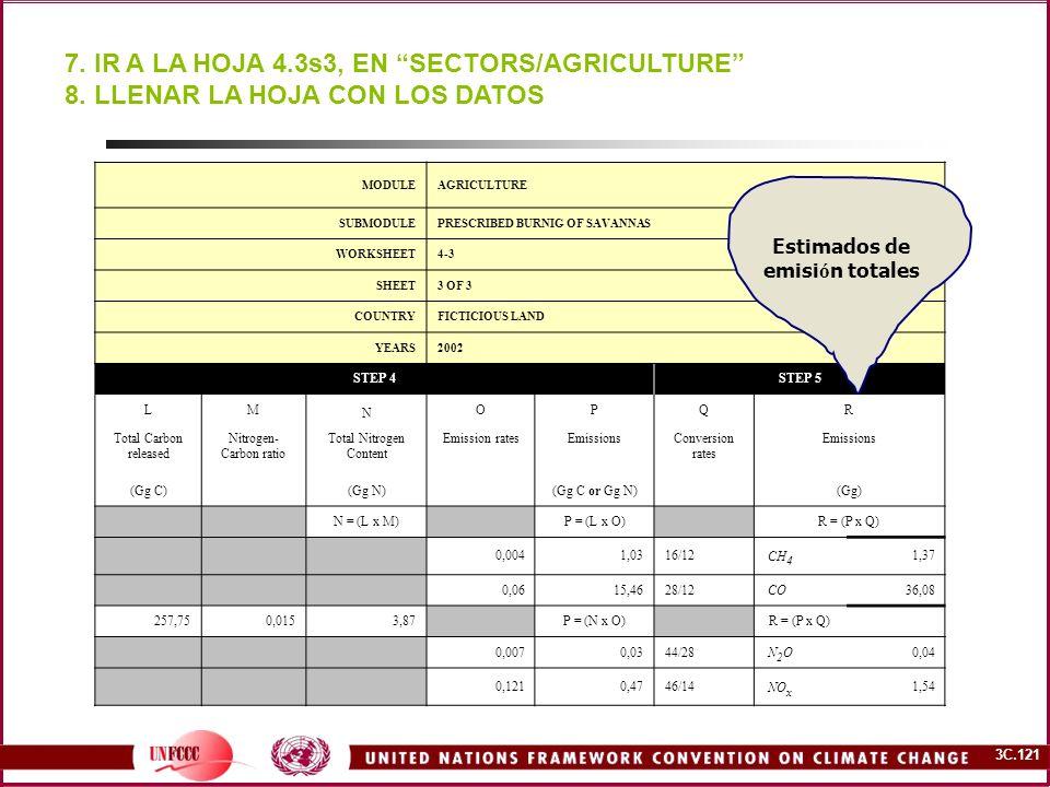7. IR A LA HOJA 4.3s3, EN SECTORS/AGRICULTURE