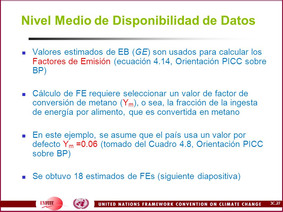 Nivel Medio de Disponibilidad de Datos