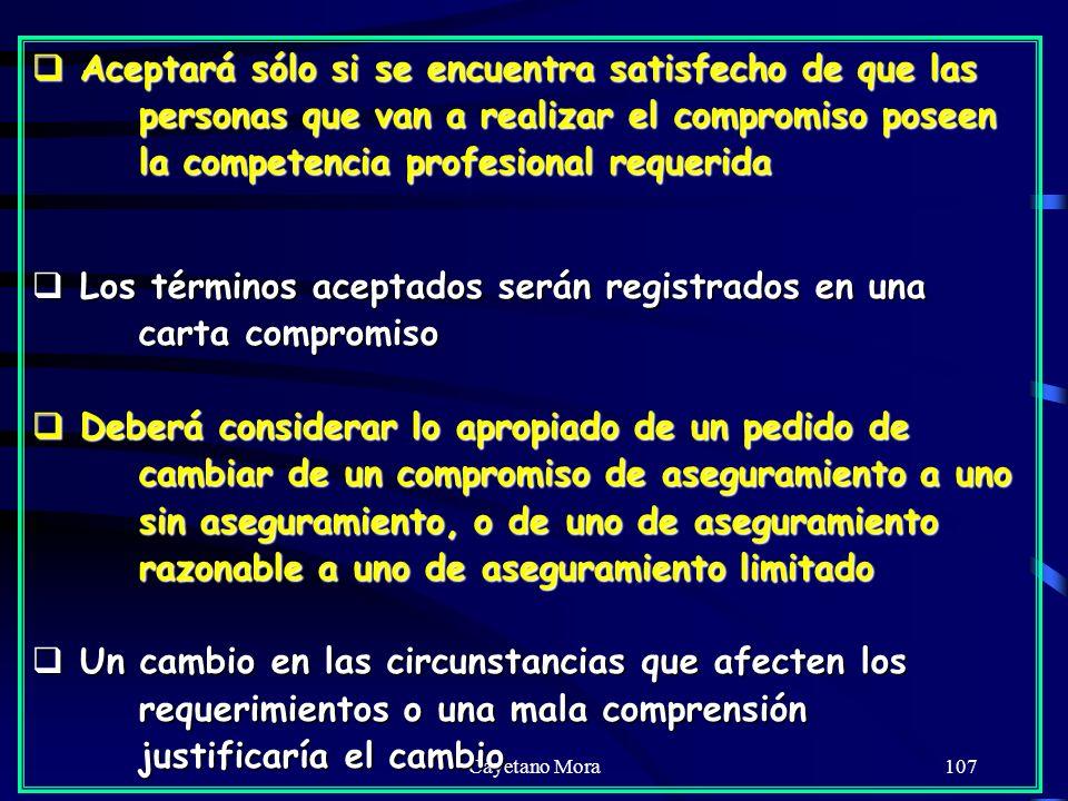 Los términos aceptados serán registrados en una carta compromiso