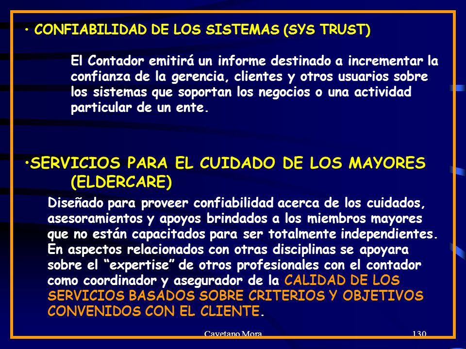 SERVICIOS PARA EL CUIDADO DE LOS MAYORES (ELDERCARE)