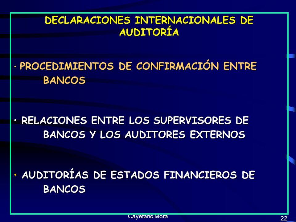 DECLARACIONES INTERNACIONALES DE AUDITORÍA